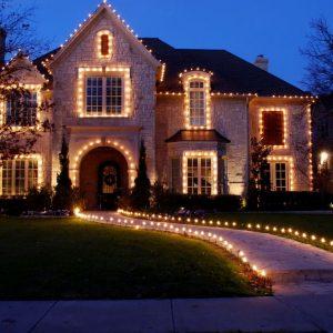 holiday light installation
